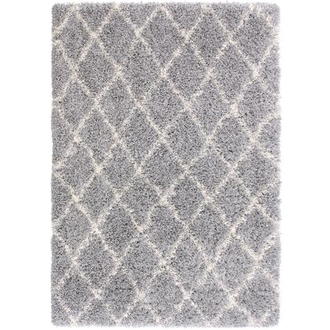 grey rug 5x7 designera collection grey and ivory 5 ft x 7 ft shaggy area rug era3019 5x7 the home depot