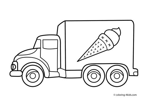 truck coloring pages for toddlers truck pictures for cliparts co