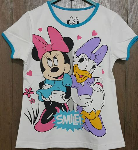 Baju Kaos Atasan Anak Mickey Mouse kaos anak minnie mouse duck smile 1 6 grosir