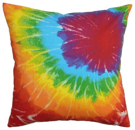 tie dye home decor betrys tie dye pillow green orange 18 quot x18 quot contemporary