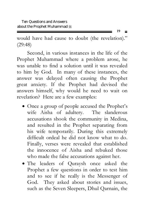 prophet muhammad biography quiz ten questions and answers about the prophet muhammad pbuh