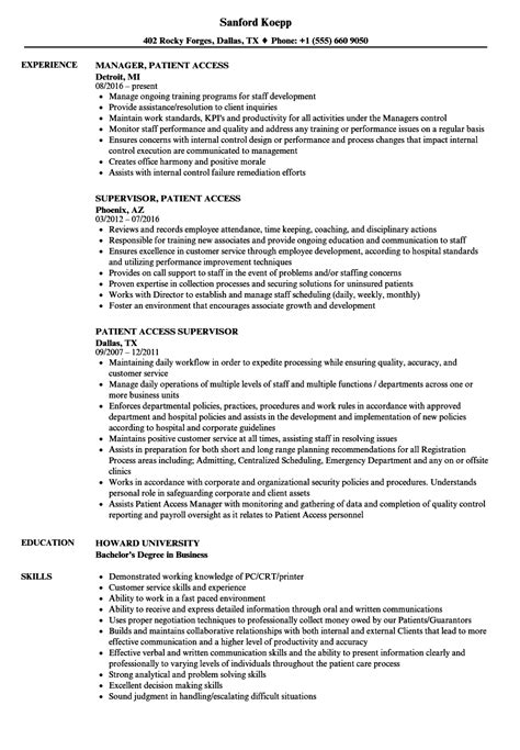 stylish decoration patient service representative resume patient