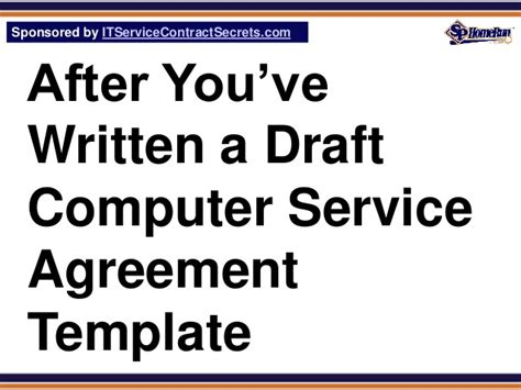 template computer definition computer service agreement template glossary definition