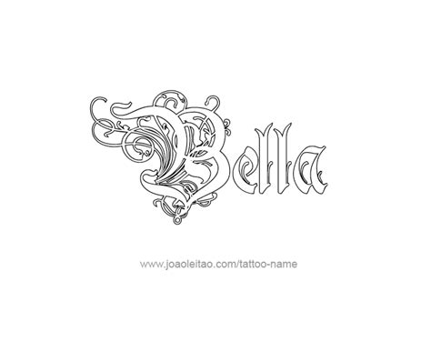 bella tattoo designs name designs