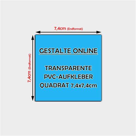 Aufkleber Gestalten Transparent by Transparente Pvc Aufkleber Online Gestalten Quadratisch 7