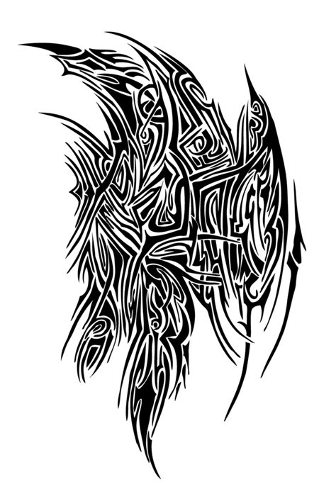 tribal wing tattoo designs tribal wing stencil tattooshunt