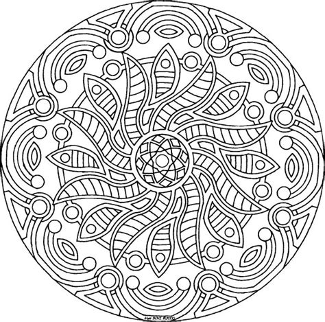 Free Coloring Pages Of Mandalas Mandala Free Coloring Pages