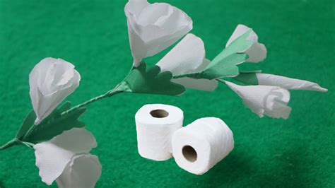 How To Make Toilet Paper Flowers - how to make butterfly white flowers from toilet tissue