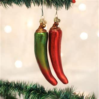 pepper ornament tradition chili pepper world glass ornament 28070r