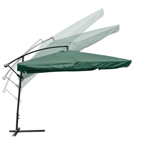 Mesh Patio Umbrella 9x9 square aluminum offset umbrella patio outdoor shade w