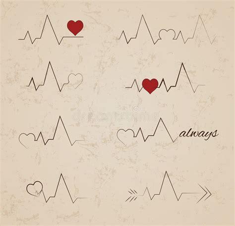 tatoo poignet heartbeat battement de coeur conceptions de tatouage de battement de coeur de vecteur