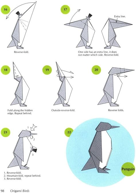 How To Make A Paper Penguin - 14 best penguin images on origami animals