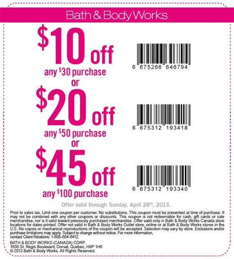 bed bath and body works coupons bath body works canada up to 45 off your purchase