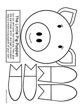 the three pigs puppet templates the three pigs literacy activities by as told by