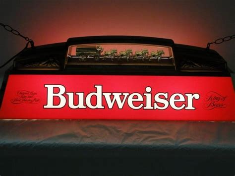 Budweiser Pool Table Lights by Plastic Budweiser Pool Table Light