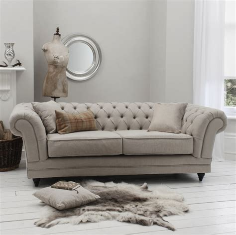 grey linen chesterfield sofa ac pacific juliet traditional