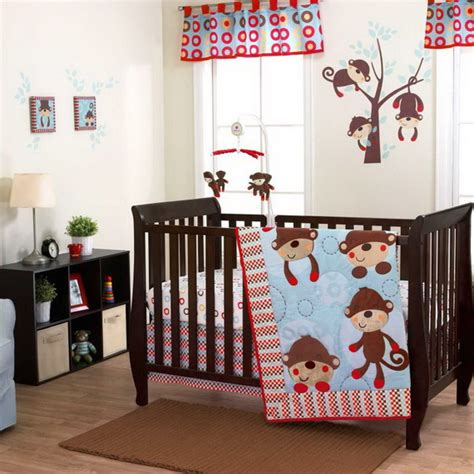 Monkey Baby Crib Bedding Theme And Design Ideas Family Monkey Crib Bedding Sets