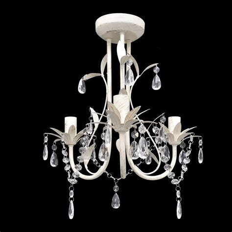 white crystal ceiling vidaxl co uk crystal pendant ceiling l chandelier
