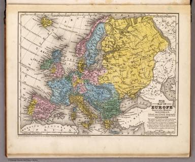 Blockers Ireland Map Of Europe Mitchell Samuel Augustus 1839