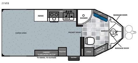 work and play floor plans new 2015 forest river rv work and play 21vfb toy hauler