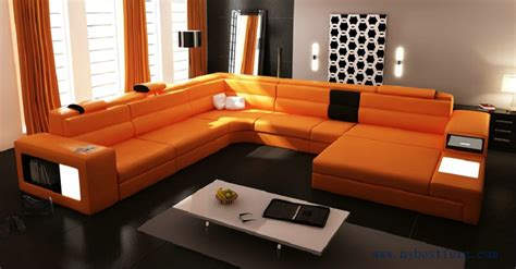 Modern Sofa For Sale by Sale Modern Orange Sofa Set Large Size U Shaped Villa
