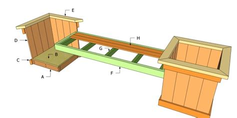 bench with planter box plans 39 diy garden bench plans you will love to build home