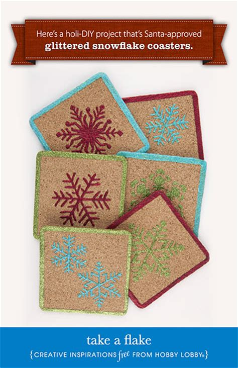 hobby craft projects hobby lobby project take a flake coasters