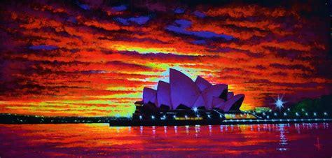 sydney house painters sydney opera house 2 painting by thomas kolendra