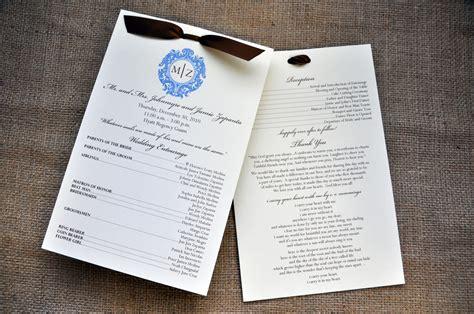 Reception Wedding Program by Wedding Programs For The Reception Wiregrass Weddings