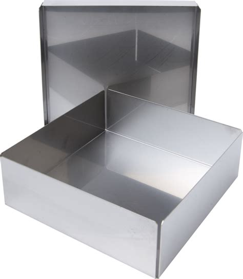 aluminum box labrepco standard 2 quot aluminum boxes without dividers with shoe box style lid