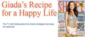 Giada De Laurentiis Diet Workout And A Recipe by Giada De Laurentiis Recipe For A Happy Shape Magazine