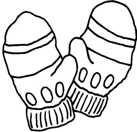 mitten coloring page three pair of mittens coloring pages color