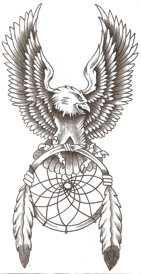 dream catcher tattoo eagle eagle dreamcatcher by thelob on deviantart