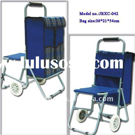 Exclusive Foldable Shopping Cart Laris trolley shopping bag with chair in singapore trolley