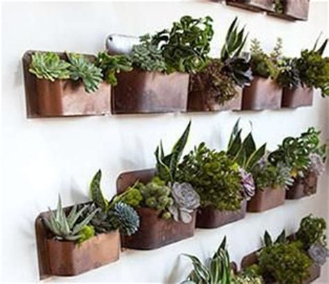 rust wall planters  perfect  indoor herb gardens