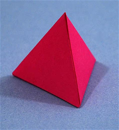 How To Make A Tetrahedron Out Of Paper - how to fold a tetrahedron from paper