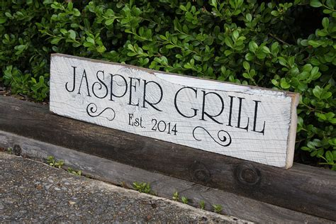 Outdoor Kitchen Signs custom painted reclaimed wood signs signs by andrea