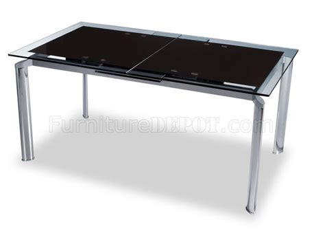 Dining Table Metal Frame Contemporary Dining Table With Glass Top And Metal Frame
