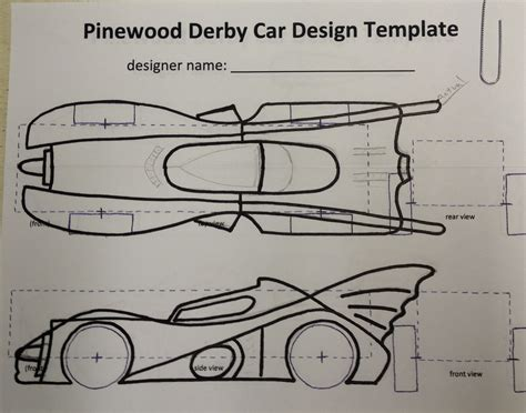 free printable pinewood derby car templates online