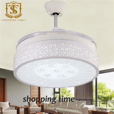 modern 42 inch remote ceiling fan light white