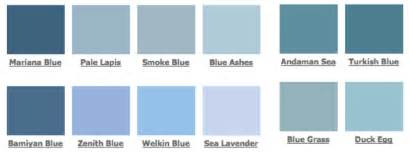 light blue color names different shades of blue trendey