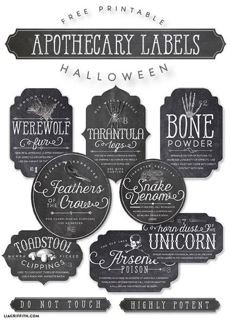 printable silver stickers printable apothecary labels for halloween apothecaries