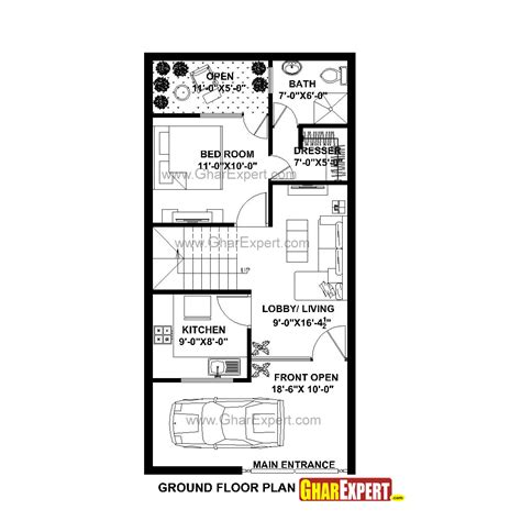 20 feet by 40 feet house plans house plan for 20 feet by 40 feet plot plot size 89 square yards gharexpert com