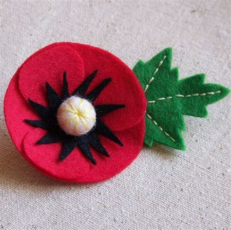Handmade Flower Brooches - handmade felt poppy brooch by laurafallulah