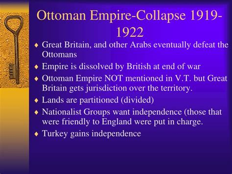 ottoman empire collapse ppt formation of the modern middle east powerpoint