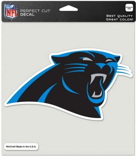 what color is carolina panthers blue carolina panthers team color panther logo 8x8 die cut