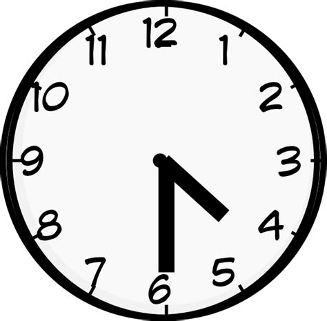 Wall Clock Digital by Half Past Four Clip Art At Clker Com Vector Clip Art