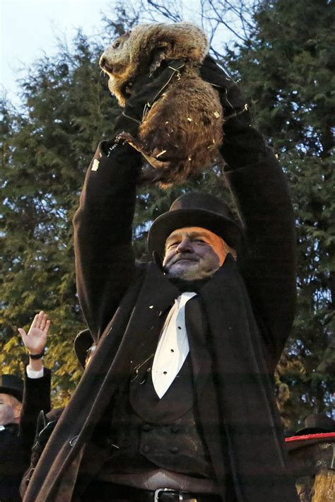 groundhog day weather report pennsylvania groundhog s handlers phil predicts more