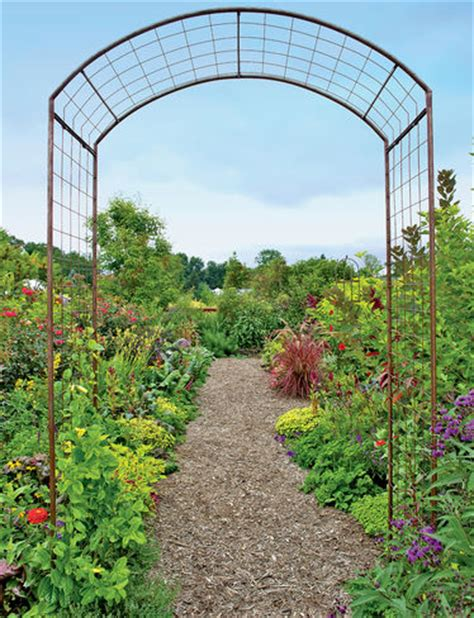 arch for climbing plants trellis jardin arch gardener s supply
