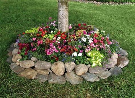 front flower bed ideas rustic flower beds with rocks in front of house ideas 48